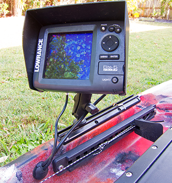Fish Finder Screen Position Kayak